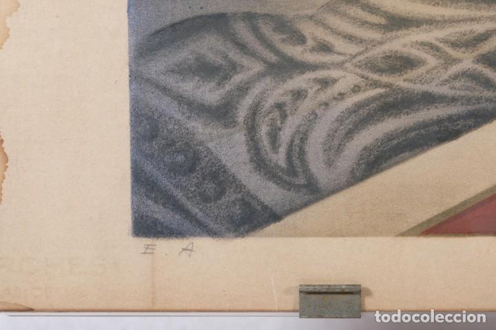 Arte: Litografía Torso Desnudos femeninos y paisaje firma ilegible a lápiz - Foto 10 - 243674915