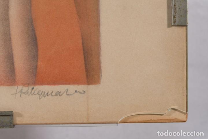 Arte: Litografía Torso Desnudos femeninos y paisaje firma ilegible a lápiz - Foto 11 - 243674915