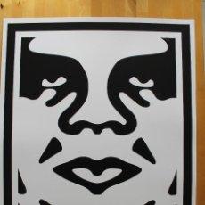 Arte: ICÓNICA LITOGRAFÍA DE OBEY (SHEPARD FAIREY)-FIRMADA- OBEY 3FACE WHITE - 64X76,5CM. Lote 244738180