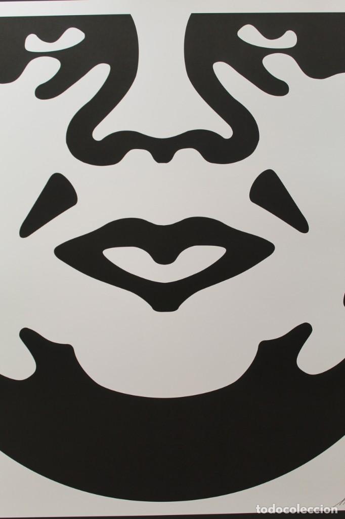 ICÓNICA LITOGRAFÍA DE OBEY (SHEPARD FAIREY)-FIRMADA- OBEY 3FACE WHITE - 64X76,5CM (Arte - Litografías)