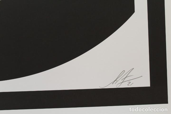 Arte: Icónica Litografía de OBEY (Shepard Fairey)-Firmada- Obey 3Face White - 64x76,5cm - Foto 2 - 244738600