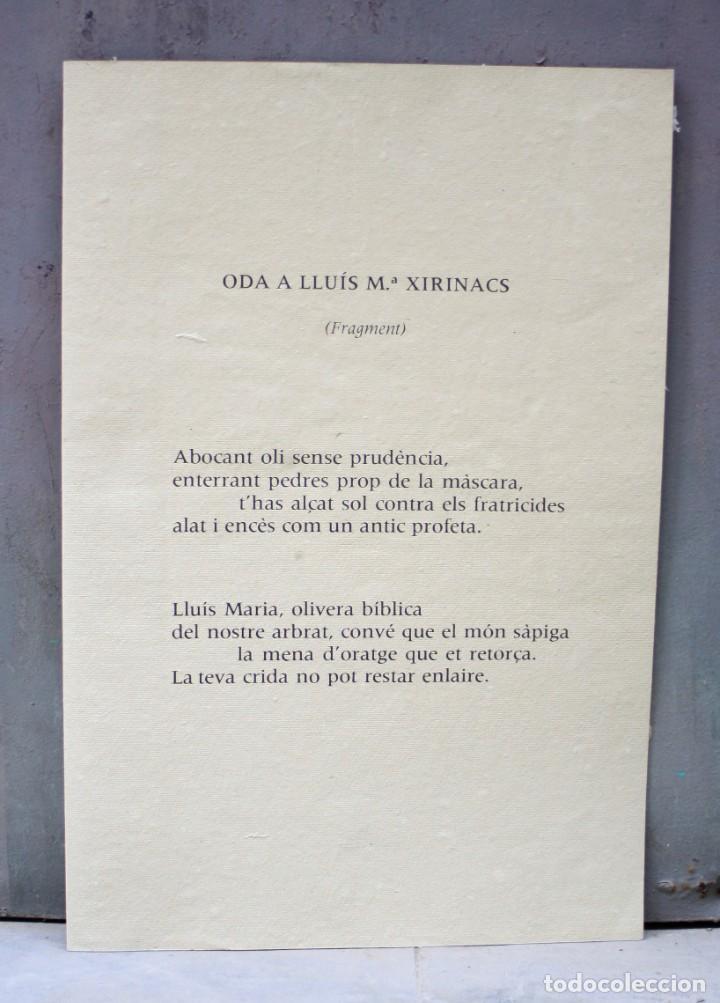 Arte: Carpeta Oda a Xirinacs, 1976, poema de Joan Brossa firmado y litografia original de Antoni Tàpies. - Foto 2 - 245181285