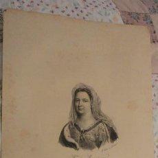 Arte: ANTIGUA LITOGRAFIA.MADAME DE MAINTENON.LIT DELPECH. SIGLO XIX. Lote 245278885