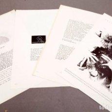 Arte: JUAN MANUEL BONET - 1973 - 4 ELECTROGRAFÍAS. Lote 245622180