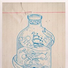 Arte: JAVIER DE LA ROSA - GICLEE - FIRMADO Y NUMERADO - CORUÑA DE SUEÑOS. Lote 245922335