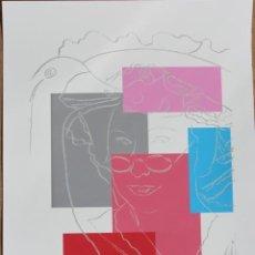 Arte: ANDY WARHOL. LITOGRAFÍA DE 57X37,5 FIRMADA PLANCHA NUMERADA A LÁPIZ 50/100, MARCA DE AGUA. PERFECTA.. Lote 247518255