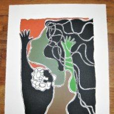 Arte: LITOGRAFÍA DE PEDRO SOBRADO, HOMENAJE A GARCÍA LORCA FIRMADA A LAPIZ Y NUMERADA 102/150, MIDE 36X52. Lote 247600965