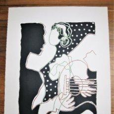 Arte: LITOGRAFÍA DE PEDRO SOBRADO, HOMENAJE A GARCÍA LORCA FIRMADA A LAPIZ Y NUMERADA 36/150, MIDE 36X52. Lote 247601135
