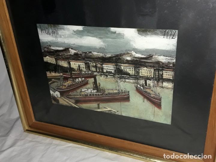 Arte: Bello antiguo cuadro con litografía de Bernard Buffet año 1972 - Foto 4 - 247628910