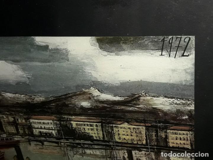 Arte: Bello antiguo cuadro con litografía de Bernard Buffet año 1972 - Foto 7 - 247628910