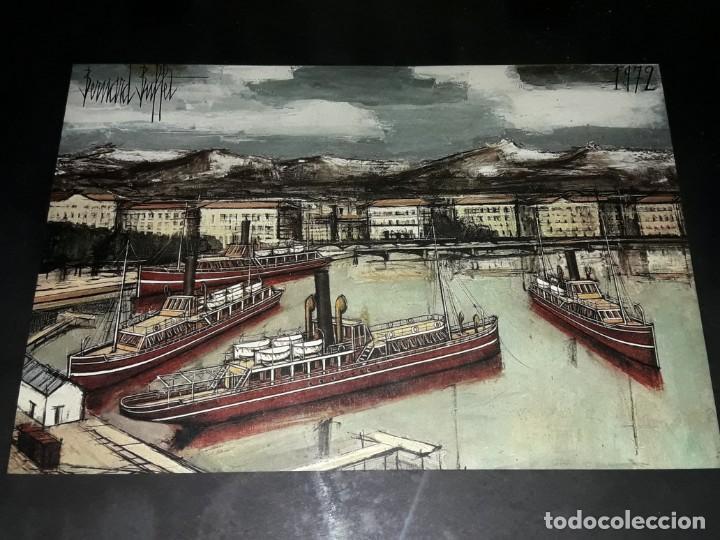 Arte: Bello antiguo cuadro con litografía de Bernard Buffet año 1972 - Foto 8 - 247628910