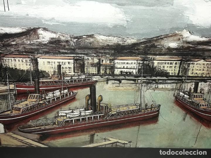 Arte: Bello antiguo cuadro con litografía de Bernard Buffet año 1972 - Foto 10 - 247628910
