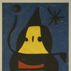 Arte: INTERESANTE LITOGRAFIA GRAN TAMAÑO JOAN MIRÓ EDICION LIMITADA AÑO 1973 ENMARCADA Y LISTA PARA COLGAR. Lote 286417553