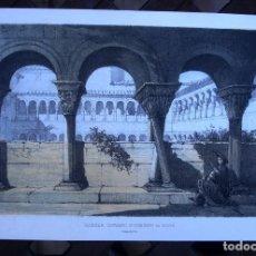 Art: CLAUSTRO, CONVENTO; ST. DOMINGO DE SILOS. LITOGRAFÍA COLOREADA. 1853. Lote 248560530