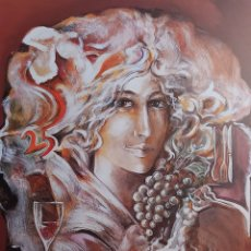 "Arte: JOAN ABRAS"" JOVEN CON FRUTAS"" LITOGRAFIA. Lote 252673745"