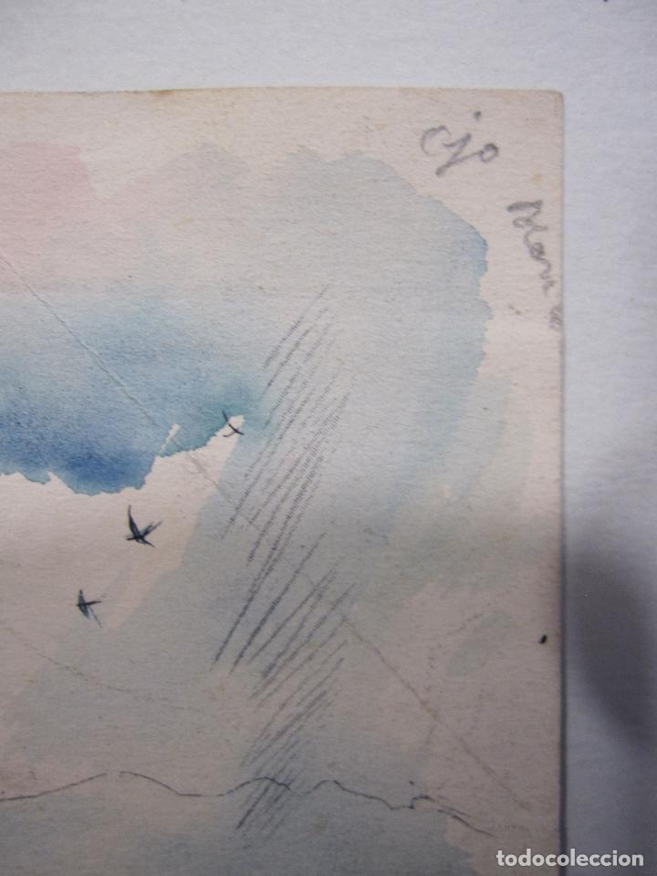 Arte: JOAN PALET BATISTE. 6 LITOGRAFIAS ILUMINADAS A MANO. 1942. 13 X 8,5 CM. FIRMADAS Y FECHADAS - Foto 10 - 252773260