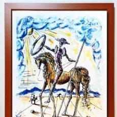 Arte: SALVADOR DALI- LITOGRAFÌA-DON QUIXOTE-FIRMADO Y NUMRADO ED, LTD,EDICION 300 AÑO 1994 -TAMAÑO 42 X 33. Lote 253943340
