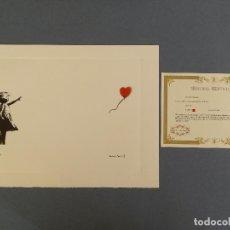 Arte: BANKSY, EDICIÓN LIMITADA CERTIFICADO (PICASSO BANKSY MIRÓ WARHOL HARING). Lote 254536025