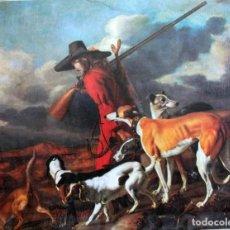 Arte: THE HUNTER, ADRIAEN CORNELISZ BEELDEMAKER. IMPRESIÓN SOBRE LIENZO. 72X55CM. Lote 254920410
