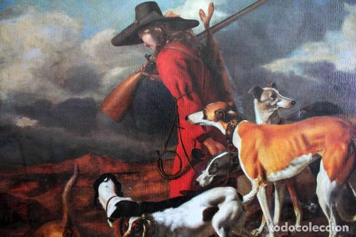 Arte: The Hunter, Adriaen Cornelisz Beeldemaker. Impresión sobre lienzo. 72x55cm - Foto 2 - 254920410