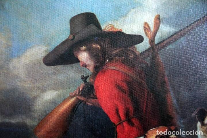 Arte: The Hunter, Adriaen Cornelisz Beeldemaker. Impresión sobre lienzo. 72x55cm - Foto 4 - 254920410
