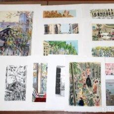 Arte: SIMO BUSOM GRAU (BARCELONA 1921) LOTE DE 14 LITOGRAFIAS ORIGINALES FIRMADAS A MANO. Lote 255547890