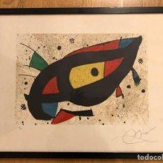 Arte: LITOGRAFÍA ORIGINAL DE JOAN MIRÓ. FIRMADA Y CERTIFICADA. SOLO 75 UNIDADES. Lote 255946280