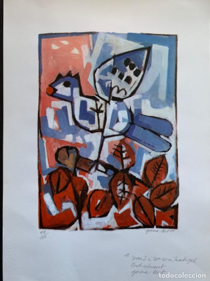 Arte: LITOGRAFÍA + LIBRO DE GARCÍA LLORT CON DEDICATORIA NUMERADA 99 DE 100 Y FIRMADA A LAPIZ 1984 - Foto 2 - 256025870