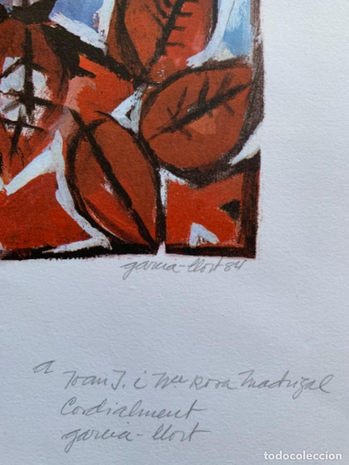Arte: LITOGRAFÍA + LIBRO DE GARCÍA LLORT CON DEDICATORIA NUMERADA 99 DE 100 Y FIRMADA A LAPIZ 1984 - Foto 6 - 256025870