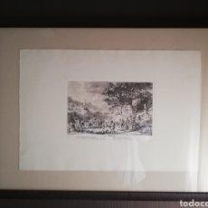 Arte: GRAN CUADRO CON LITOGRAFIA ENMARCADA EN PASSEPARTOUT Y CRISTAL-LA BOULE-. Lote 256029825