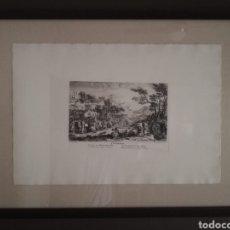 Arte: GRAN CUADRO CON LITOGRAFIA ENMARCADA EN PASSEPARTOUT Y CRISTAL-LA COURSE. Lote 256030610