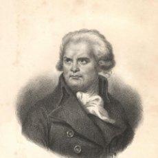 Arte: LITOGRAFÍA - GEORGES-JACQUES DANTON - JORGE DANTON - MINISTRO JUSTICIA FRANCIA - CIRCA 1840. Lote 256030925