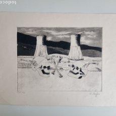 Art: LITHOGRAFIA CON FIRMADO DE CARMEN MUÑOZ. Lote 257486560