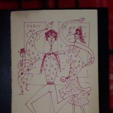 Arte: JEAN COCTEAU. MARBELLA FLAMENCO. GRABADO 1961. 32 X 50CM. Lote 258744825