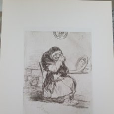 Arte: LITOGRAFIA DE GOYA. LA VIEJA DEL ESPEJO. 117 (INV 412) 192X151 DEL ÁLBUM DE BURDEOS 1824-1828. Lote 258829835
