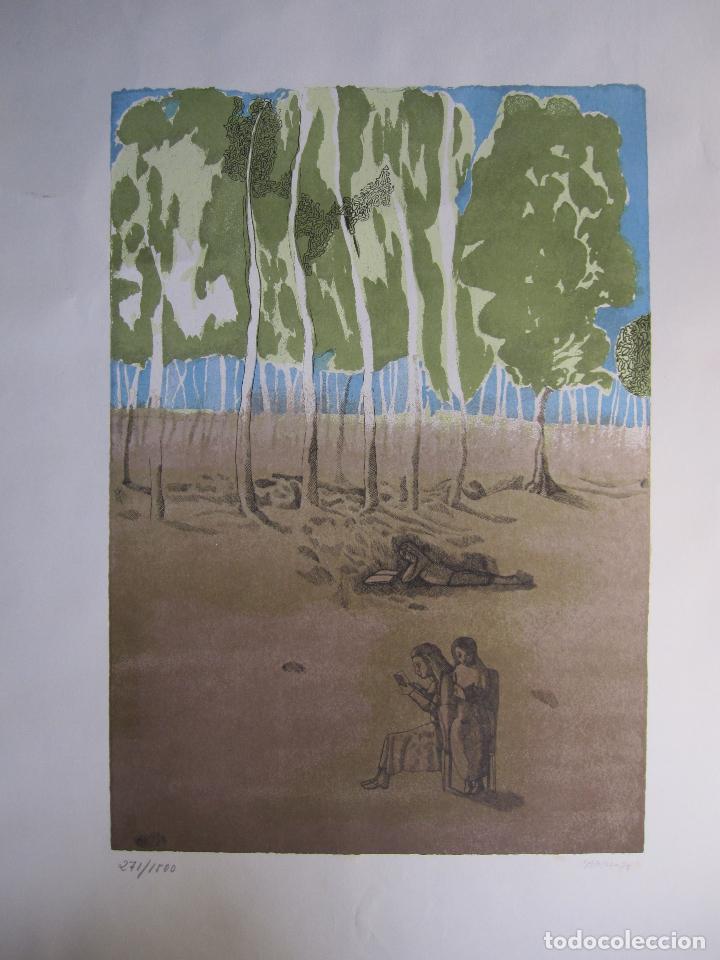 Arte: JORGE CASTILLO. EL ARBOL Y EL LIBRO. 1978. LITOGRAFIA. FIRMADA. NUMERADA 271/ 1500 - Foto 2 - 260078920