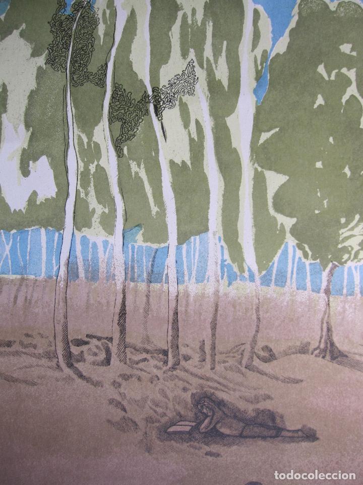 Arte: JORGE CASTILLO. EL ARBOL Y EL LIBRO. 1978. LITOGRAFIA. FIRMADA. NUMERADA 271/ 1500 - Foto 4 - 260078920