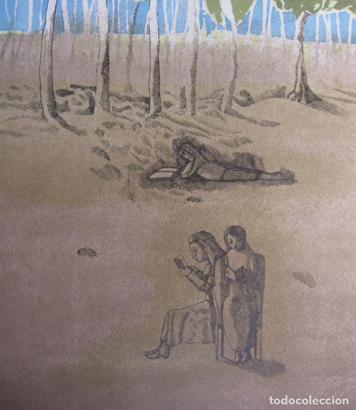 Arte: JORGE CASTILLO. EL ARBOL Y EL LIBRO. 1978. LITOGRAFIA. FIRMADA. NUMERADA 271/ 1500 - Foto 5 - 260078920
