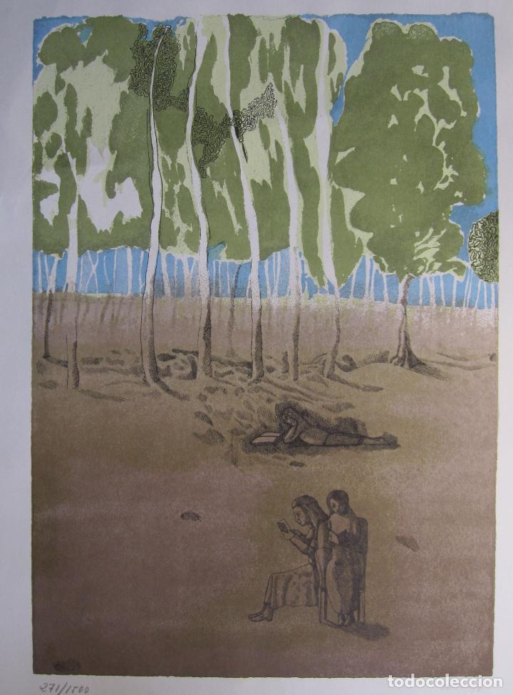 JORGE CASTILLO. EL ARBOL Y EL LIBRO. 1978. LITOGRAFIA. FIRMADA. NUMERADA 271/ 1500 (Arte - Litografías)