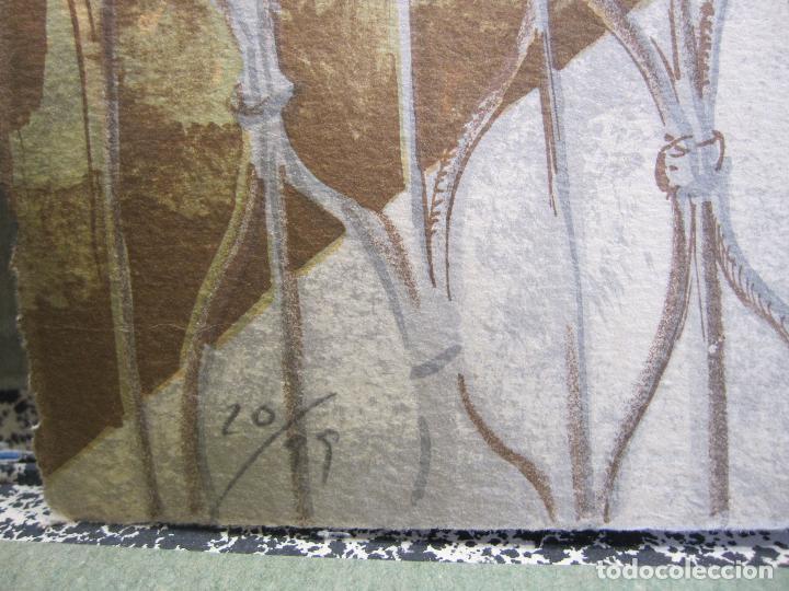 Arte: RAMON PUJOL BOIRA. LITOGRAFIA NUMERADA 20, EDICIÓN DE 99 EJEMPLARES. PAPEL ARCHES. 53,5 X 74 CM - Foto 8 - 260390830