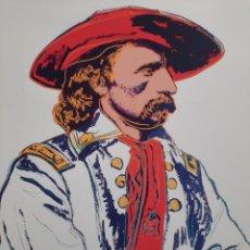 Arte: LITOGRAFIA DE ANDY WARHOL, GENERAL CUSTER,NUMERADO A LAPIZ,CON FIRMA Y MARCA DE AGUA,57X38 CMS. Lote 48733103