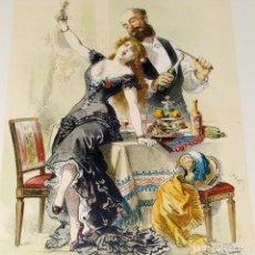 Arte: LAS CUATRO SOTAS. 4 CROMOLITOGRAFIAS. EUSEBIO PLANAS. ED. ALEU Y FUGARULL. ESPAÑA. 1881. Lote 261796260