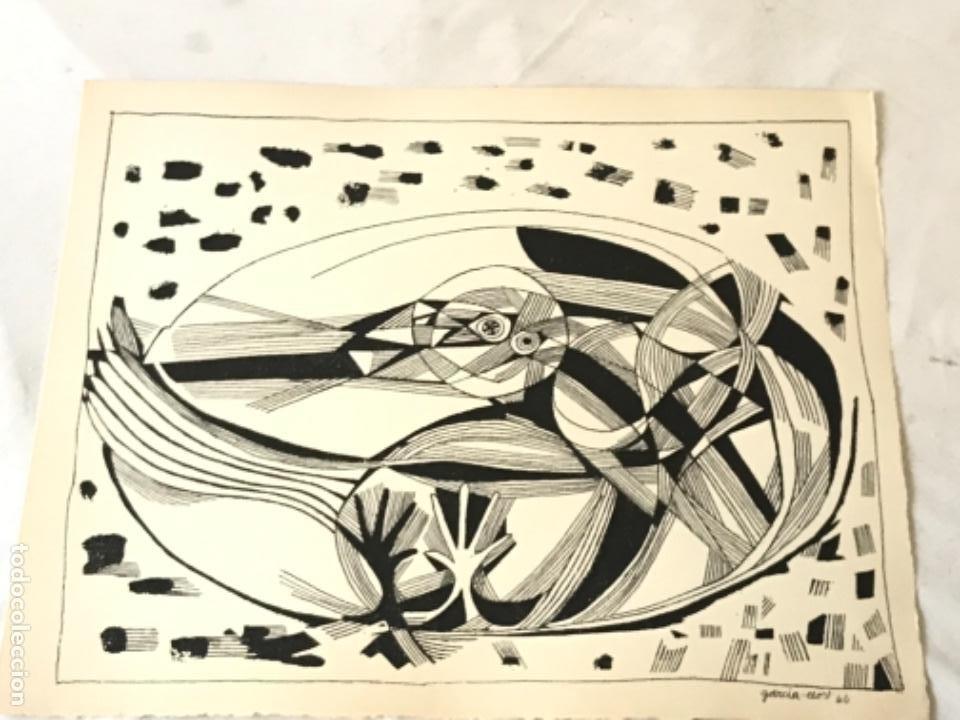 LITOGRAFÍA DE JOSEP MARÍA GARCÍA LLORT 1966. (Arte - Litografías)