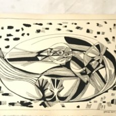 Arte: LITOGRAFÍA DE JOSEP MARÍA GARCÍA LLORT 1966.. Lote 261852725