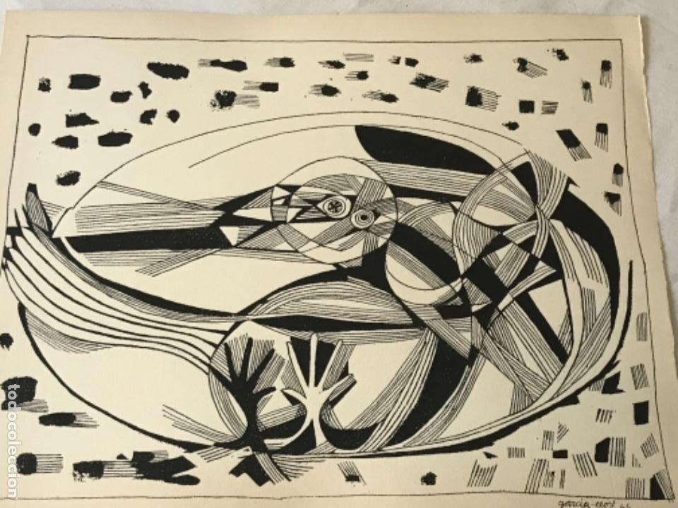 Arte: LITOGRAFÍA DE JOSEP MARÍA GARCÍA LLORT 1966. - Foto 2 - 261852725