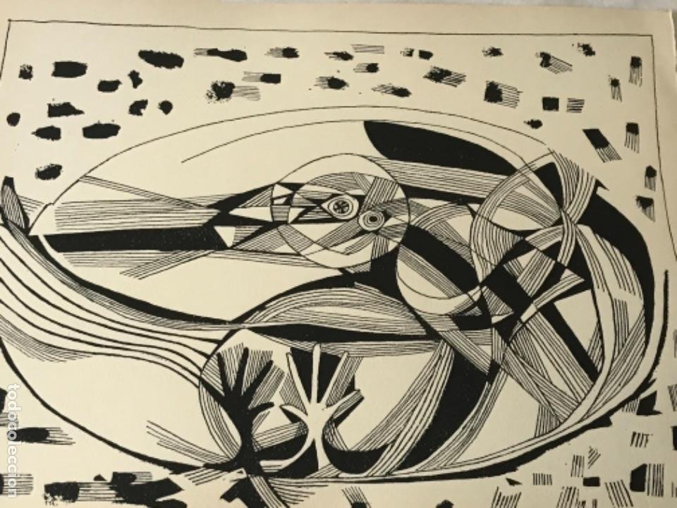 Arte: LITOGRAFÍA DE JOSEP MARÍA GARCÍA LLORT 1966. - Foto 5 - 261852725