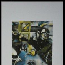 Arte: BONITA LITOGRAFIA DE MARC CHAGALL EL SOLDADO BEBEDOR EDICION LIMITADA Y NUMERADA FIRMADA EN PLANCHA. Lote 261863500