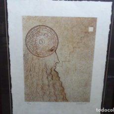 Arte: LITOGRAFÍA DE SUBIRACHS CON CERTIFICADO. 25/45. RAMON LLULL. BIEN ENMARCADA.. Lote 262114880