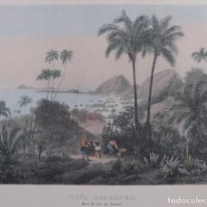 Arte: LITOGRAFÍA PLAYA RODRIGUEZ RIO DE JANEIRO SIGLO XIX. Lote 262282295