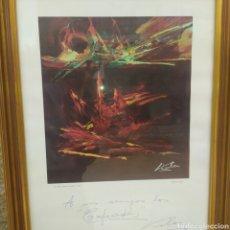 Arte: LITOGRAFÍA ORIGINAL DE MANUEL VIOLA (ZARAGOZA 1926- EL ESCORIAL 1987), FIRMADA A PLUMA Y DEDICADA. Lote 263002065